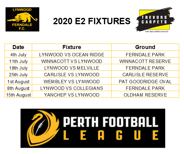 2020 Fixtures