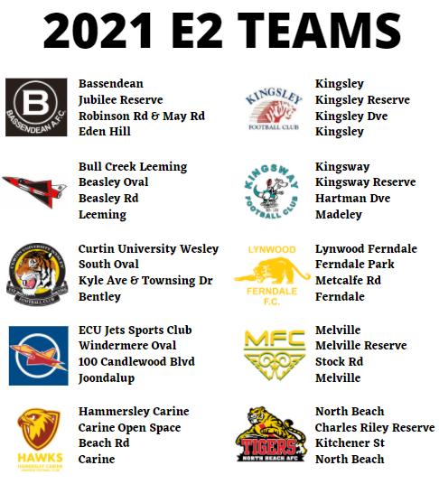 2021 E2 TEAMS
