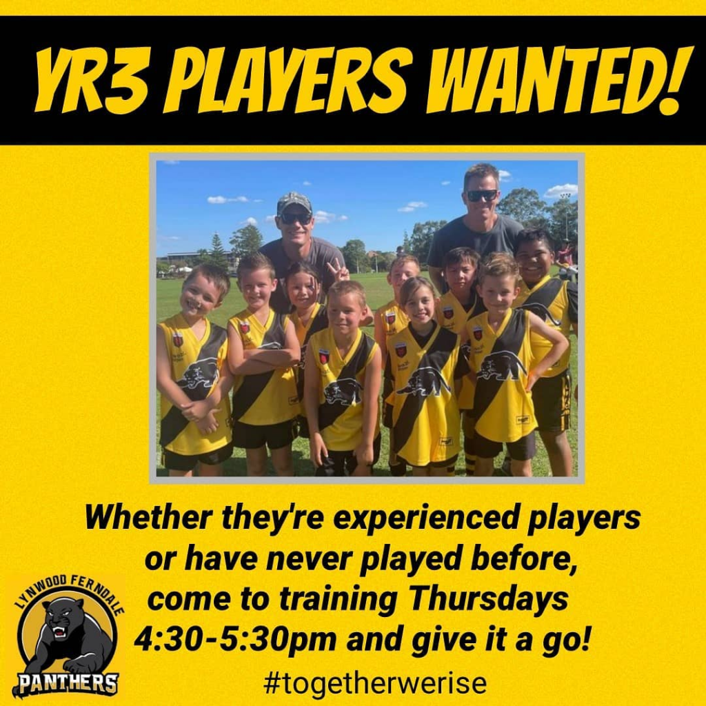 Year 3 Players Wanted